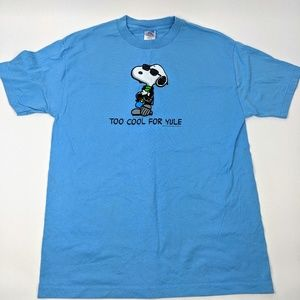 Snoopy Too Cool For Yule T Shirt Peanuts L Blue